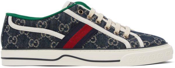 Gucci Blue Denim GG 'Gucci Tennis 1977' Sneakers