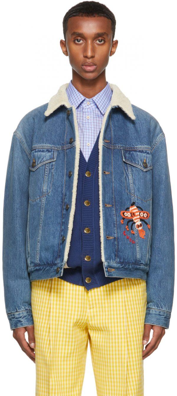 Gucci Blue Eco Washed Denim Jacket
