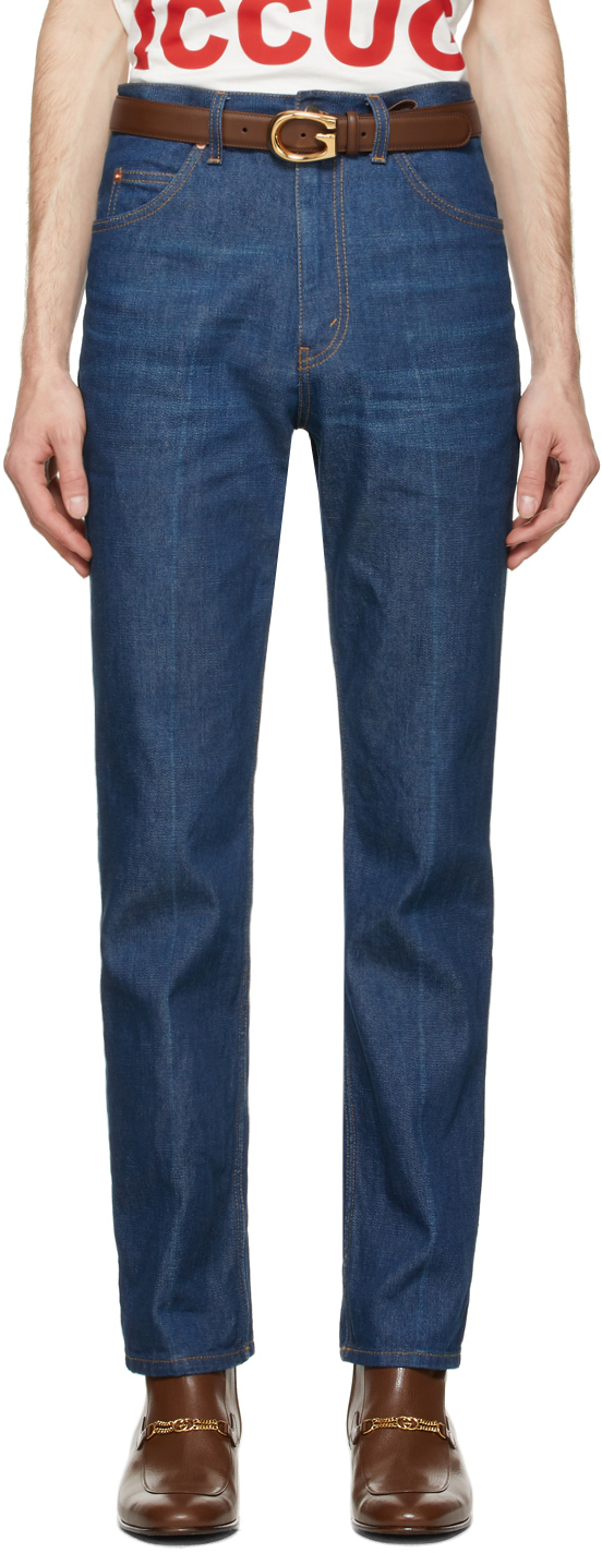 Gucci Blue Eco Washed Organic Denim Jeans