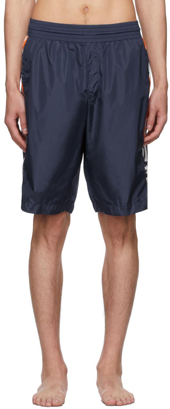 Gucci Blue Interlocking G Swim Shorts