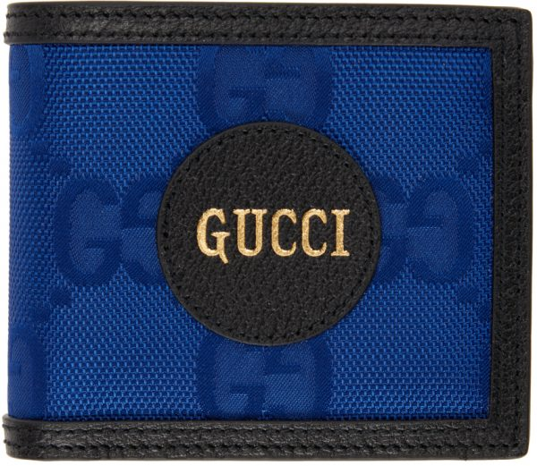 Gucci Blue Off The Grid Card GG Eco Wallet