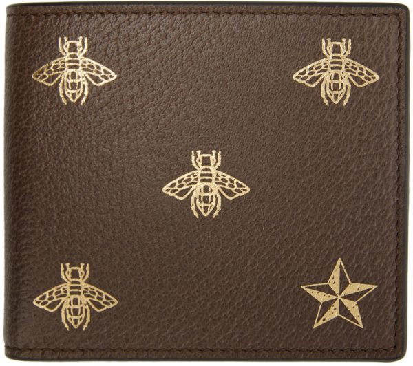 Gucci Brown Bee Star Wallet