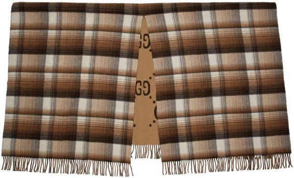 Gucci Brown Check GG Blanket