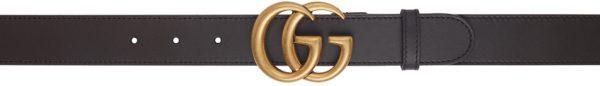 Gucci Brown GG Slim Belt