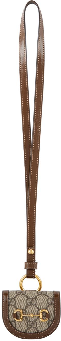 Gucci Brown 'Gucci 1955' Horsebit AirPods Case