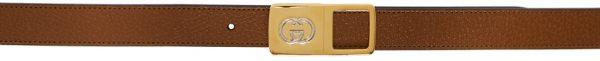 Gucci Brown Leather Interlocking G Belt