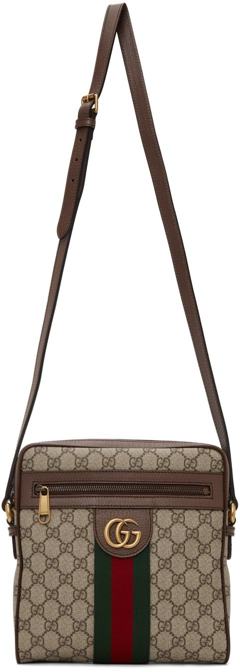 Gucci Brown Ophidia GG Small Messenger Bag