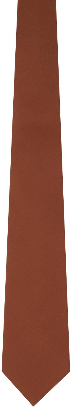 Gucci Brown Silk Crepe Tie