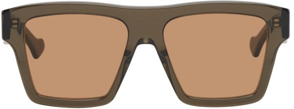 Gucci Brown Transparent Acetate Sunglasses