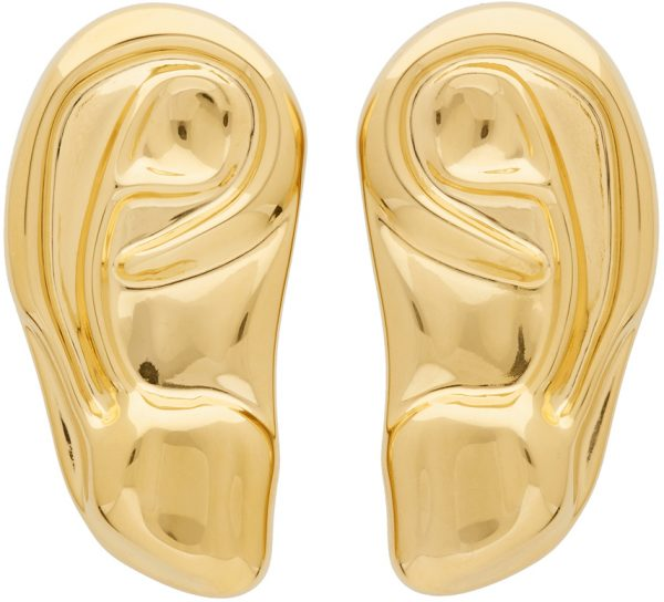 Gucci Gold Ear Brooch Set