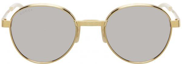 Gucci Gold Mirrored GG0872S Sunglasses