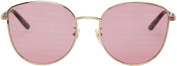 Gucci Gold & Pink GG0807SA Sunglasses