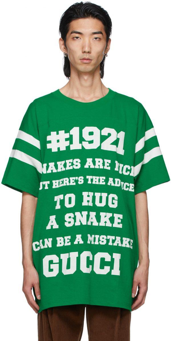 Gucci Green 'To Hug A Snake' T-Shirt