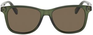 Gucci Green Transparent Acetate Rectangular Sunglasses