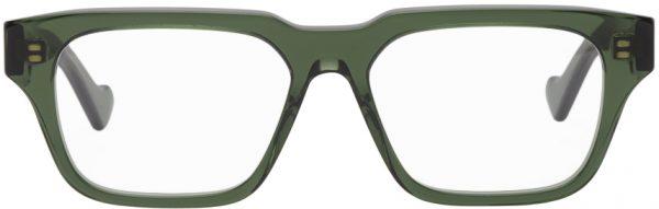 Gucci Green Transparent Square Shiny Glasses