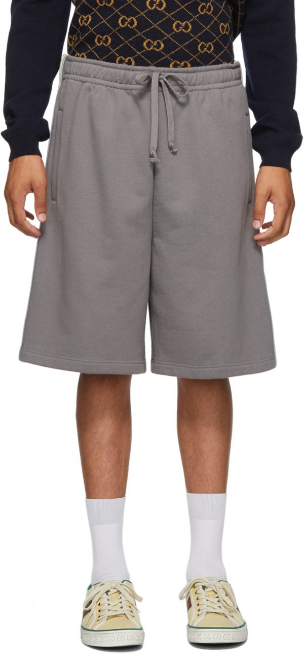 Gucci Grey Cotton Jersey Shorts