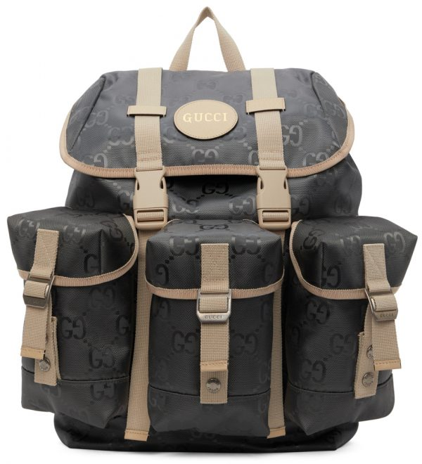 Gucci Grey Off The Grid GG Eco Backpack
