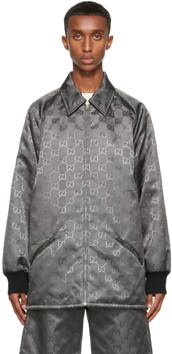 Gucci Grey Off The Grid GG Jacket