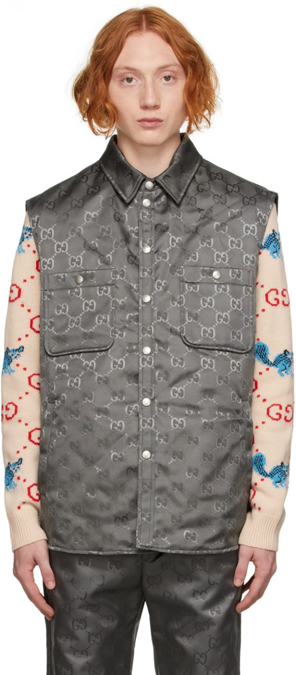 Gucci Grey Off The Grid GG Vest