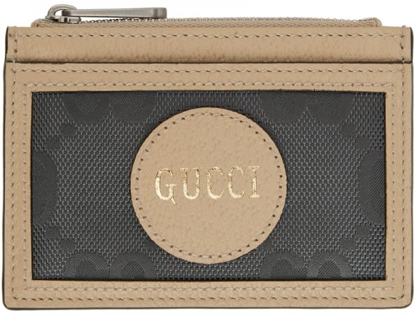 Gucci Grey Off The Grid GG Zip Card Holder