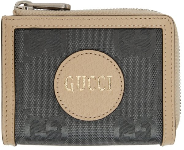 Gucci Grey Off The Grid Mini GG Zip-Around Wallet