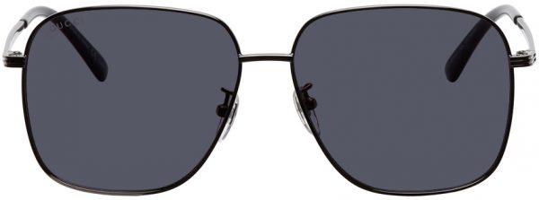 Gucci Gunmetal Metal Square Sunglasses
