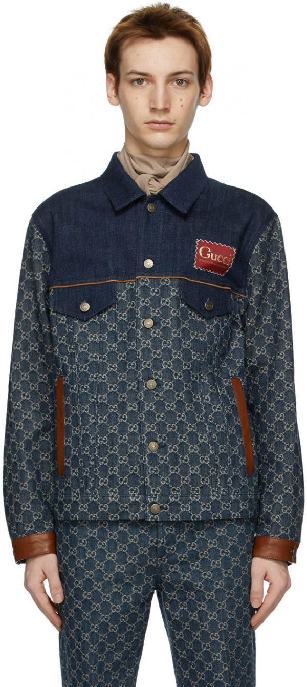 Gucci Indigo GG Denim Jacket