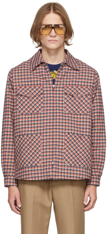 Gucci Multicolor Freya Hartas Edition Check Embroidery Jacket