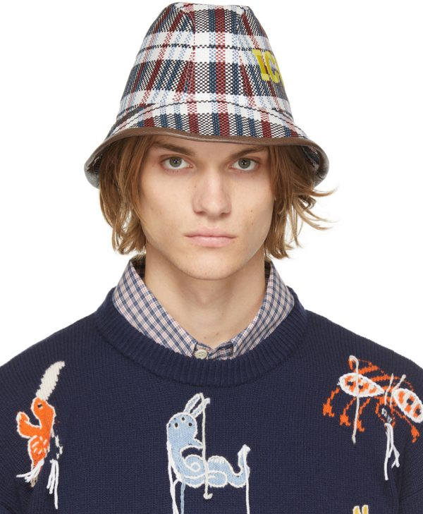 Gucci Multicolor 'ICCUG' Structured Hat
