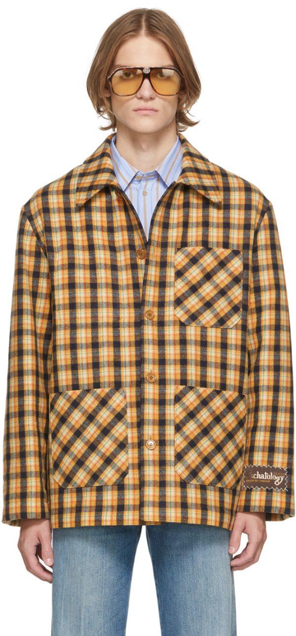 Gucci Multicolor Wool Check Jacket