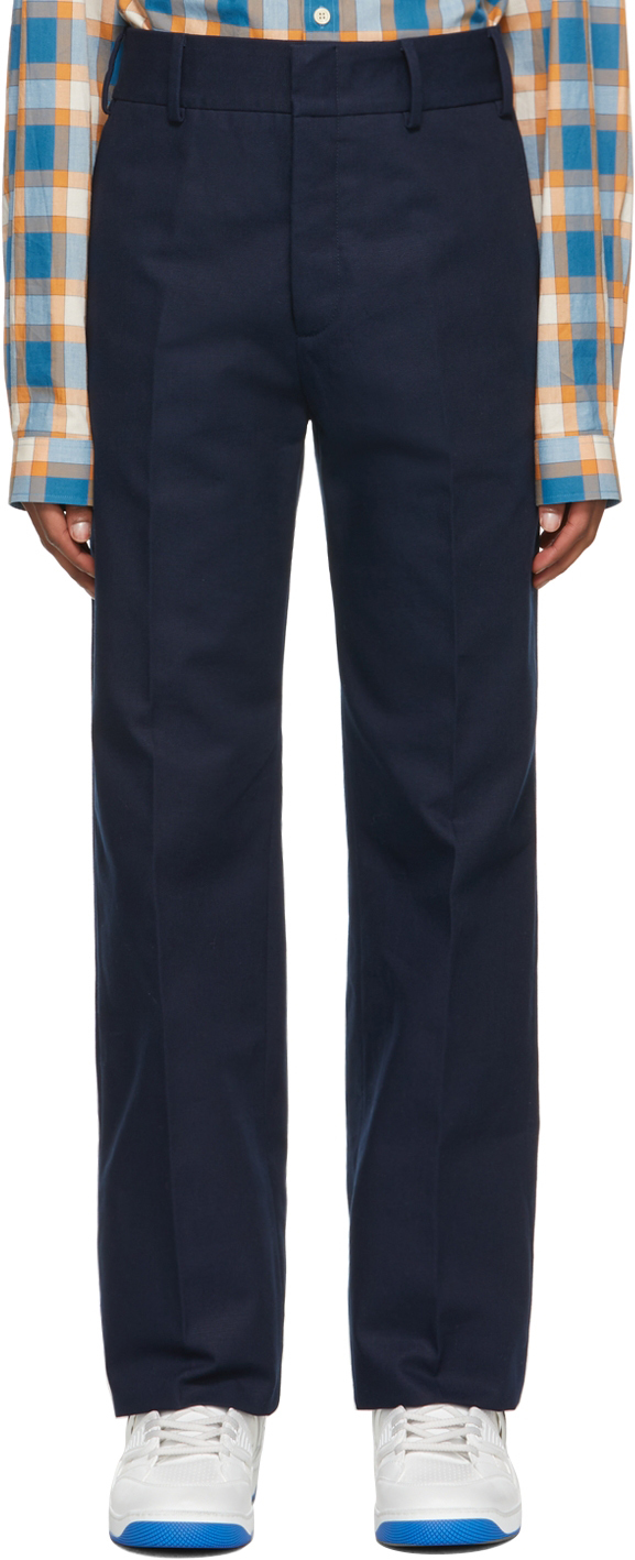 Gucci Navy Cotton Re-Edition Trousers