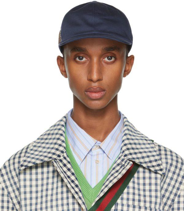 Gucci Navy 'Gucci Eschatology' Baseball Cap