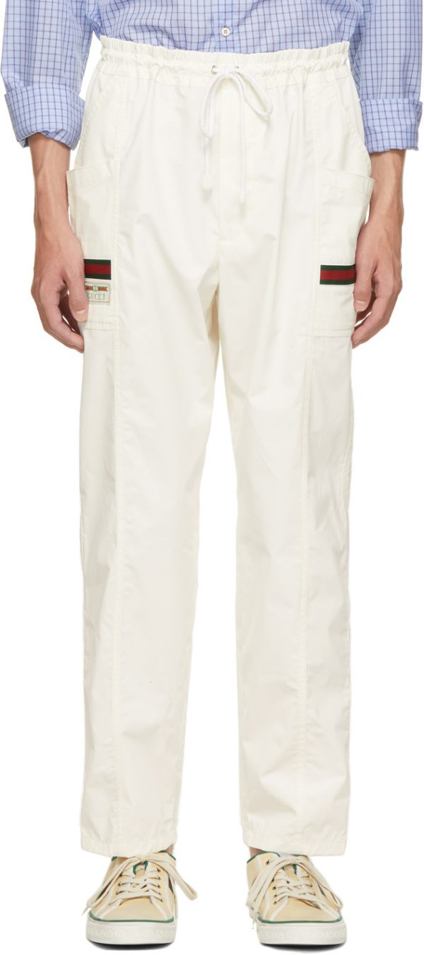 Gucci Off-White Canvas Cargo Pants