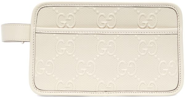 Gucci Off-White GG Embossed Cosmetic Pouch