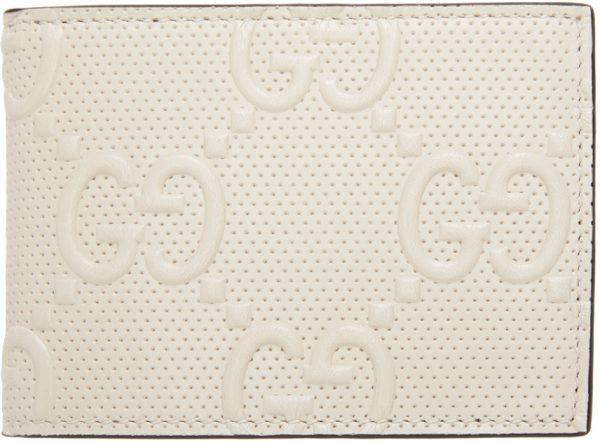 Gucci Off-White 'Gucci Signature' Tennis Bifold Wallet