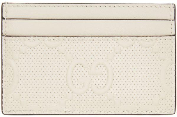 Gucci Off-White 'Gucci Signature' Tennis Card Holder