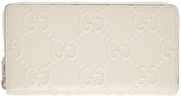 Gucci Off-White 'Gucci Signature' Tennis Zip-Around Wallet