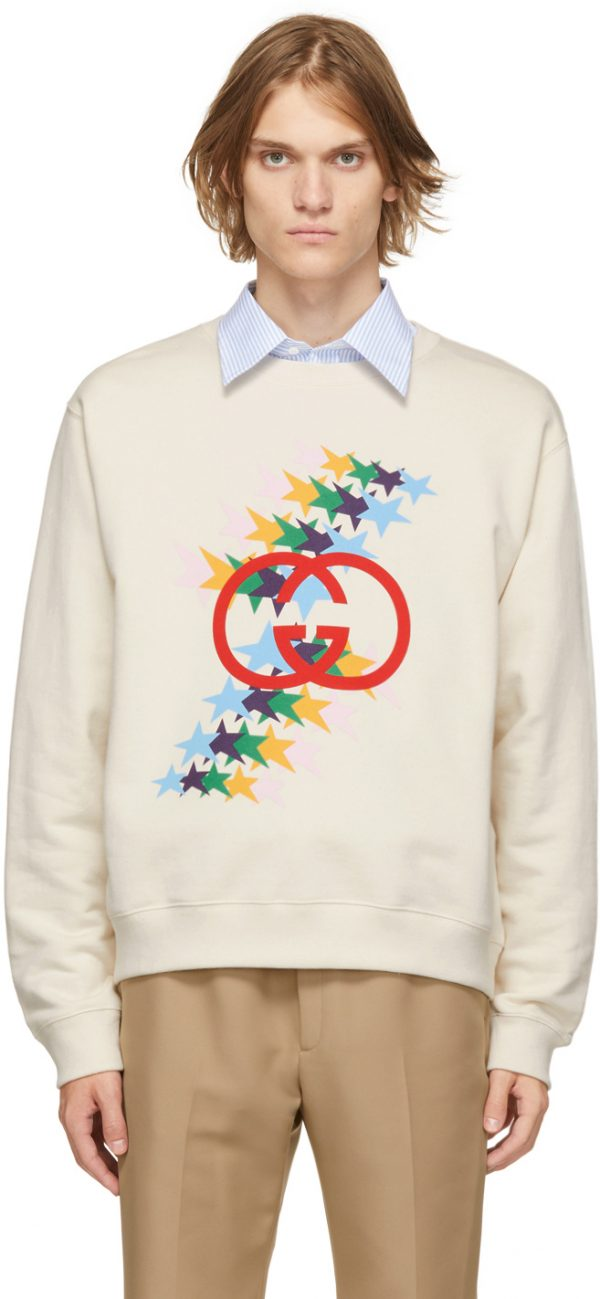 Gucci Off-White Interlocking G Star Flash Sweatshirt