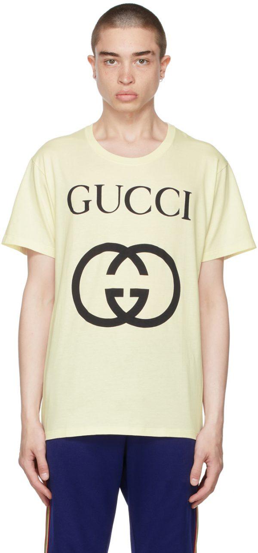 Gucci Off-White Oversize Interlocking G T-Shirt