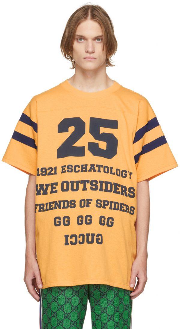 Gucci Orange '25 Gucci' T-Shirt