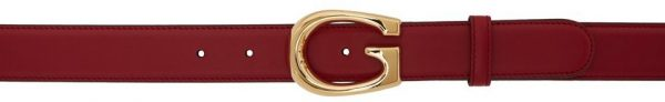 Gucci Red 'G' Buckle Belt