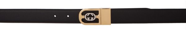 Gucci Reversible Black Interlocking Double G Belt