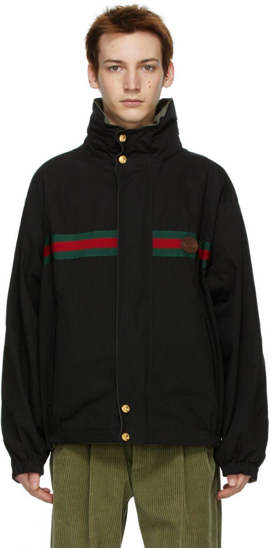 Gucci Reversible Black Ripstop Jacket
