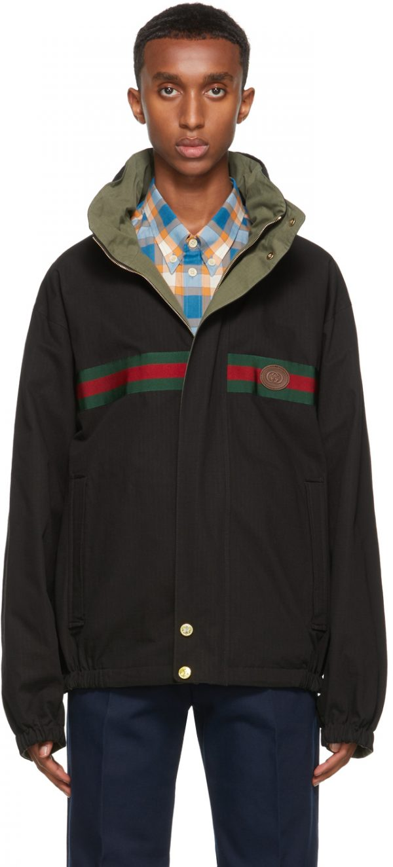 Gucci Reversible Black & Khaki GG Jacket