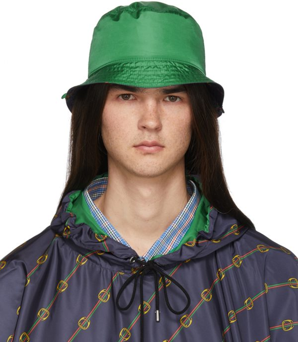 Gucci Reversible Green Nylon Bucket Hat