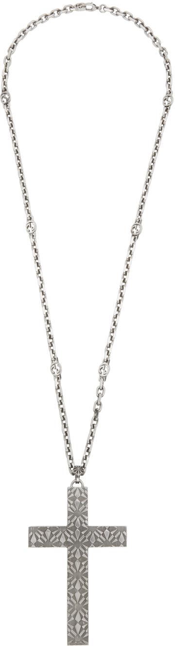 Gucci Silver Cross Necklace