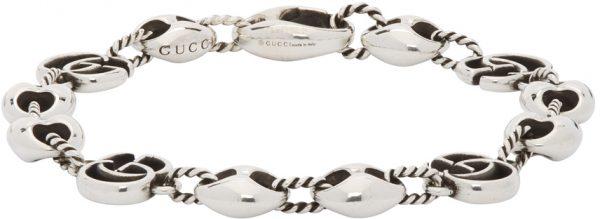 Gucci Silver Double G Marmont Bracelet