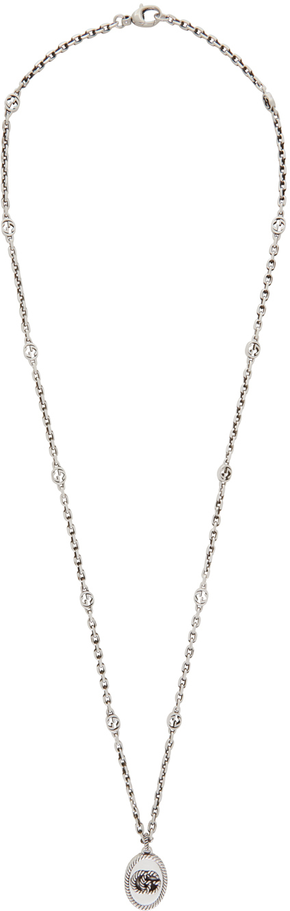 Gucci Silver Double G Marmont Chain Necklace