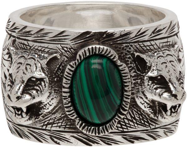 Gucci Silver Feline Garden Ring
