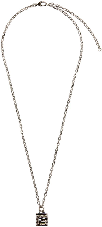 Gucci Silver G Cube Necklace